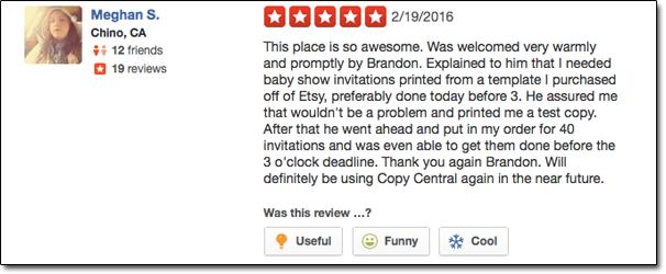 Copy Central Glendale | Testimonials